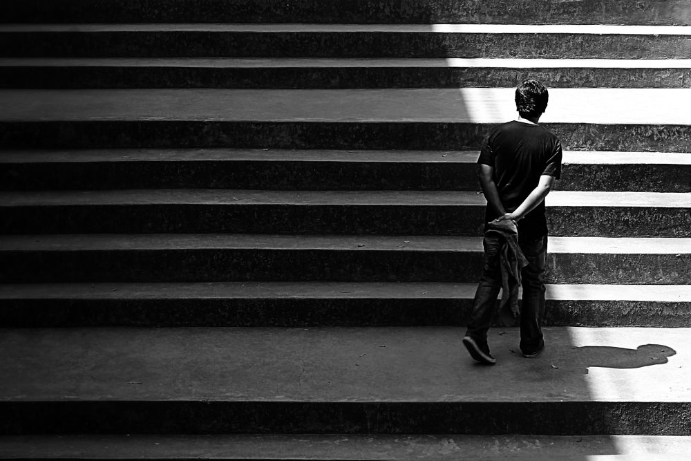 Photo in Black and White #street photography #places #people #black and white #moning shot #daily life