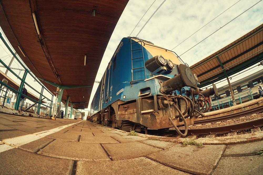 Photo in Vehicle #locomotief #locomotive #fisheye #rail #scenery #train #railway #trein
