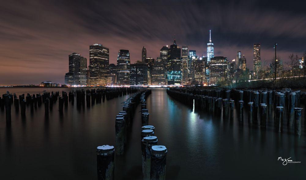 Photo in Cityscape #new york #manhattan #skyline #long exposure #night photography #city scape