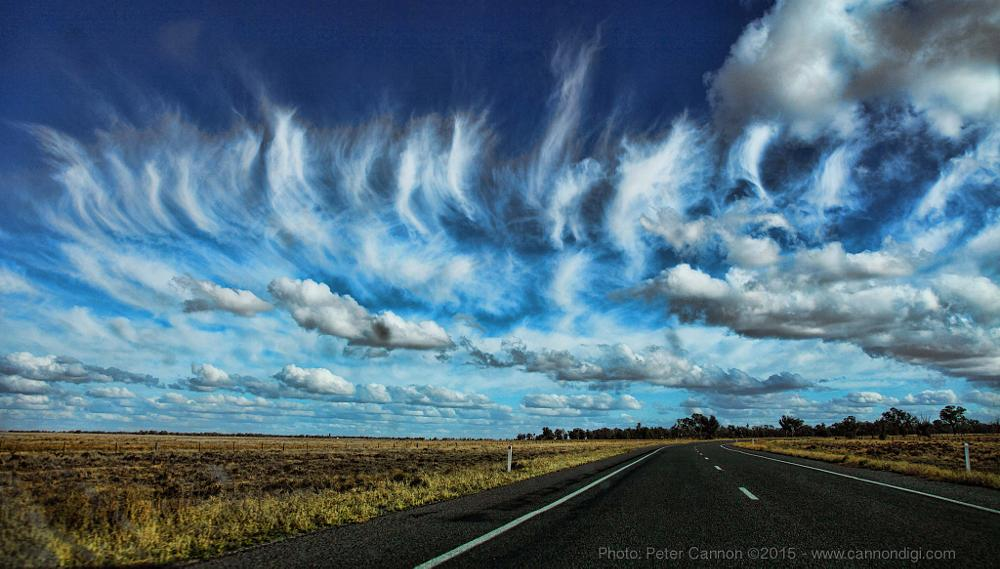 Photo in Landscape #clouds #cloudscape #highway #freeway #road #countryside #australia #nature