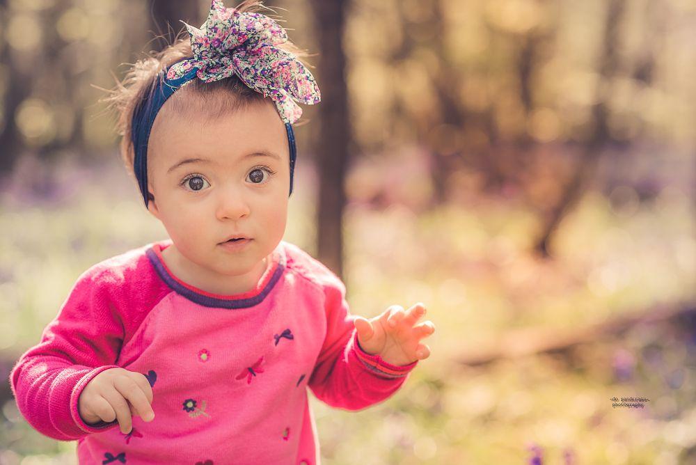 Photo in Portrait #child #forest #bluebells