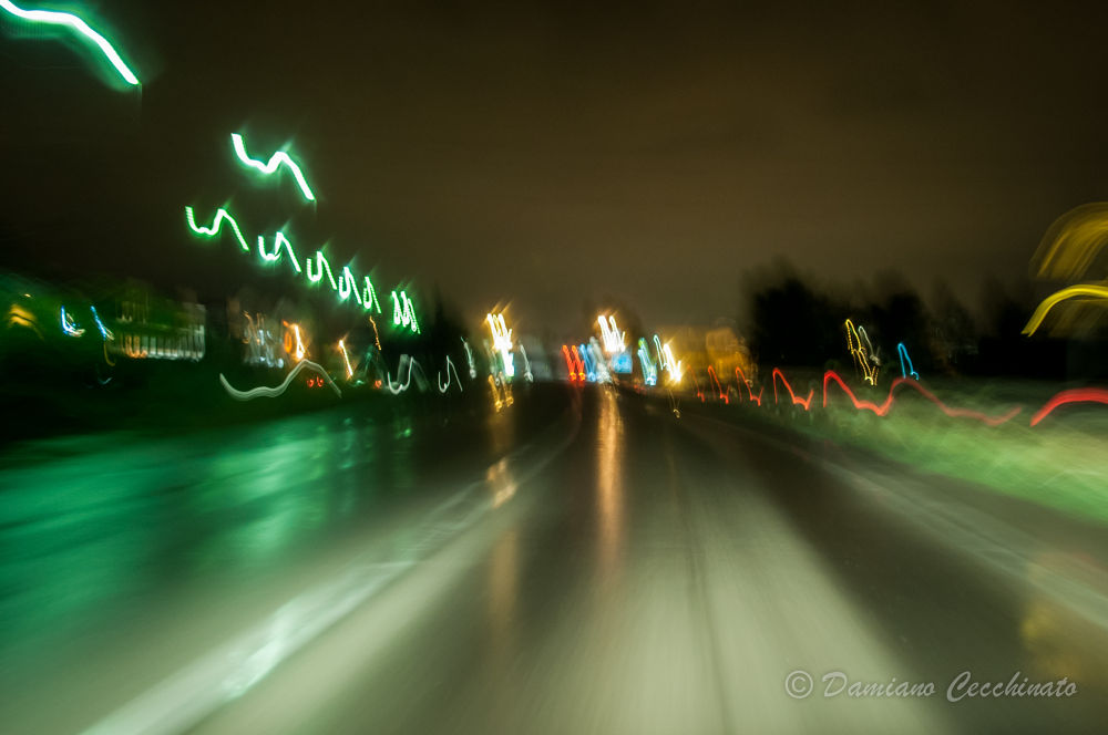 Photo in Abstract #waves #road #street #lights
