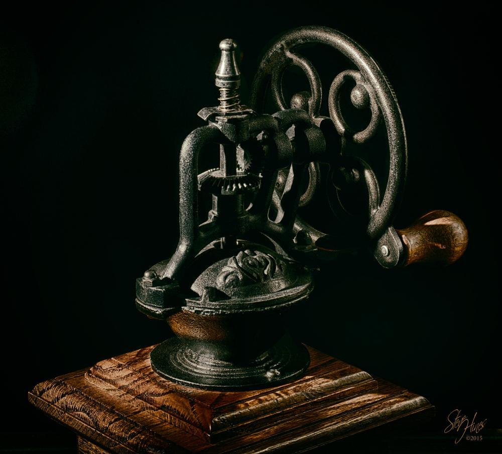 Photo in Random #antique #coffee grinder #low light #vintage