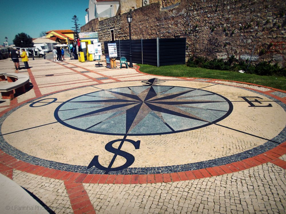 Photo in Street Photography #lost #compass rose #city #faro #portugal #2014 #algarve #street