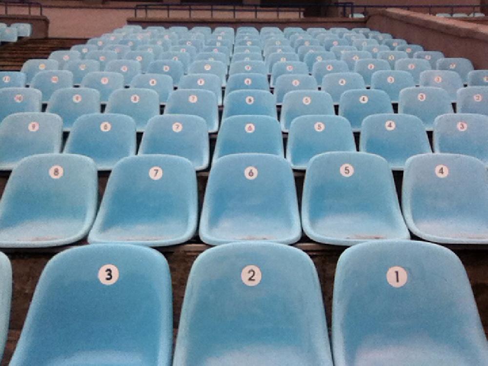 Photo in Street Photography #seat #stadium #sport #line #row