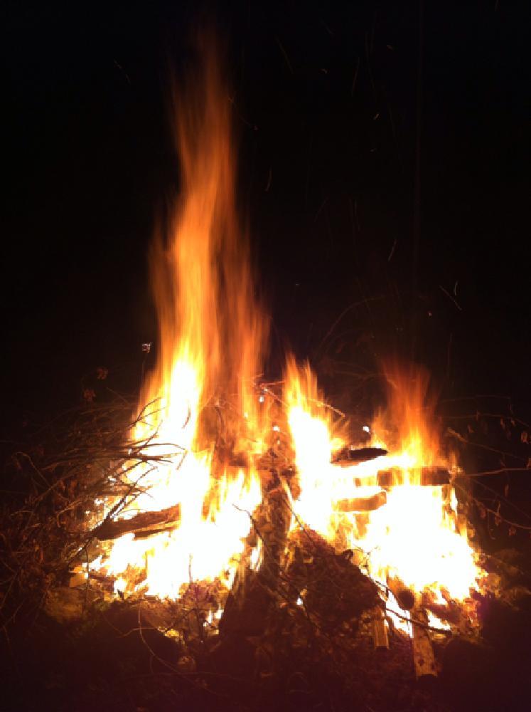 Photo in Random #bonfire #night #fire #red #yellow