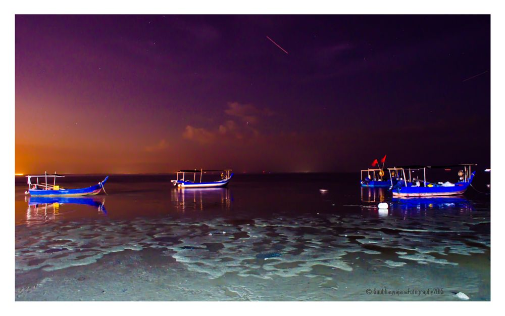 Photo in Nature #nature #landscape #island #boats #stars #meteor #evening #night #sky #penang #malaysia #nightscape