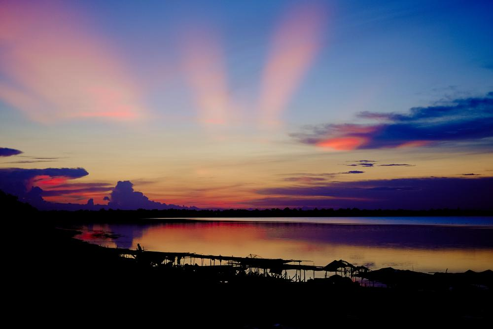 Photo in Travel #cambodia #siem reap #west baray #sunset #colourful #sky