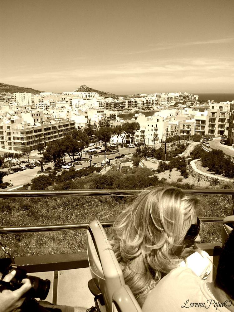 Photo in Travel #coast #travel #sepia #malta #sightseeing #bus #sea