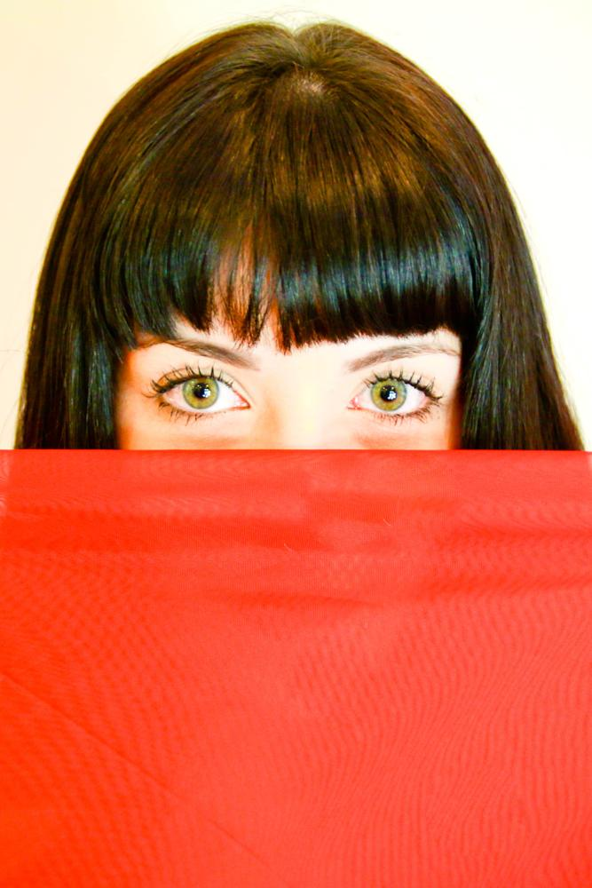 Photo in Portrait #green eyes #red #green