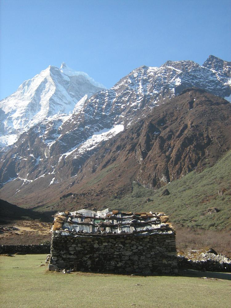 Photo in Landscape #nepal #himalaya #mountain #cottage