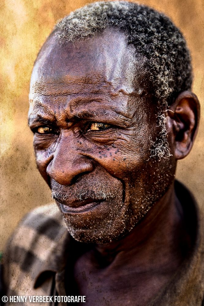 Photo in People #namibia #old #man #old man #elder people #gray #black #brown #damara #wrinkles