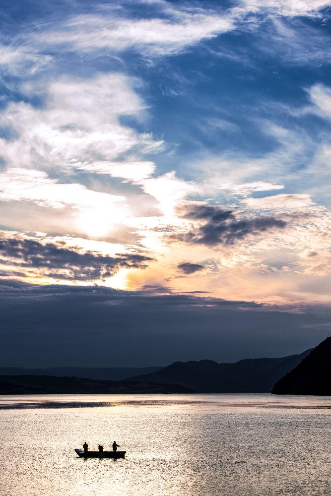 Photo in Landscape #danube #fishing #fishers #landscape #bogdan comanescu #sunrise #romania