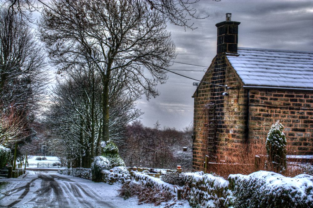 Photo in Landscape #cottage #winter #snow #view #rural #scenery #landscape