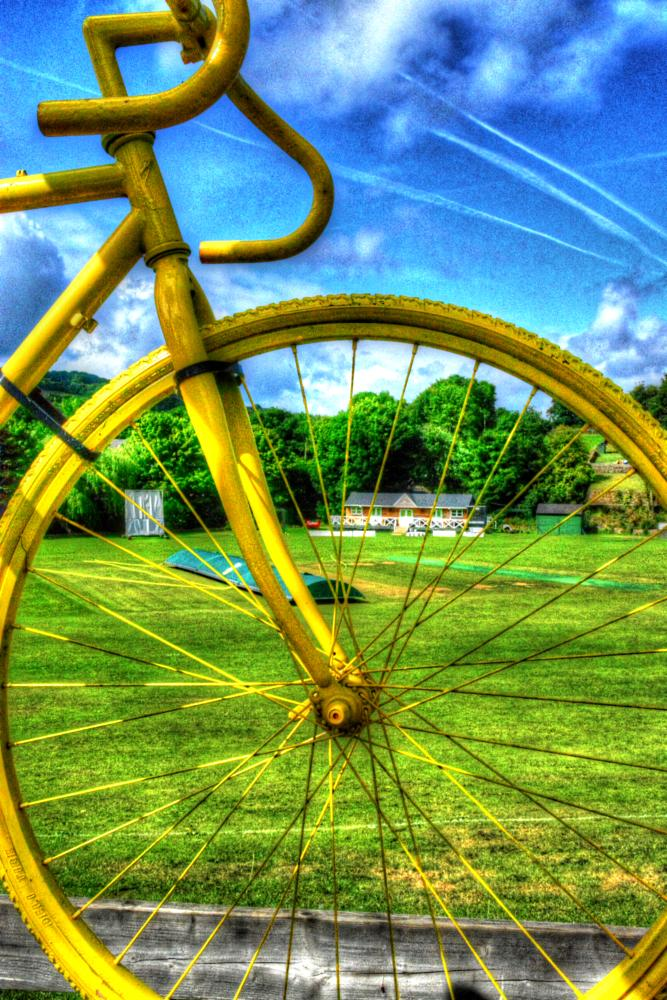 Photo in Landscape #bike #cricket #cricket pitch #country #countryside #view #sky #cloud #landscape #scenery #tour de france #bicycle