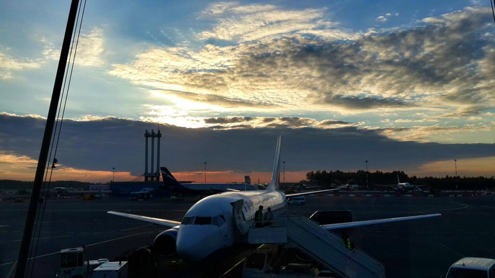 Photo in Landscape #airport #sunset #sky