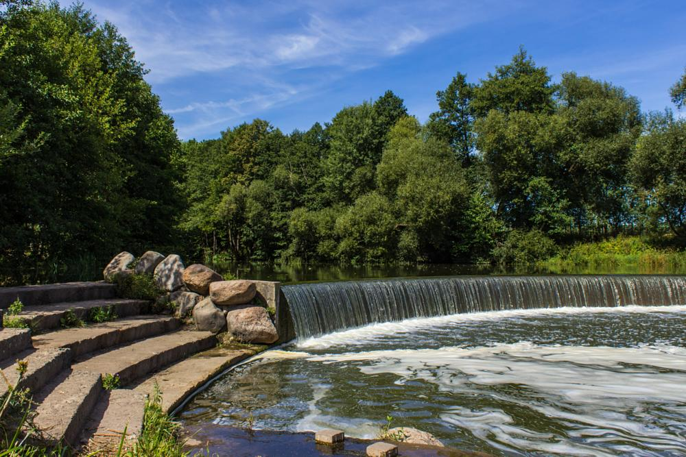 Photo in Landscape #waterfall #river #water #trees