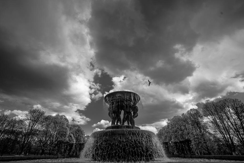 Photo in Random #fountain #vigeland #norway #oslo #art #monochrome #black and white #sony #zeiss