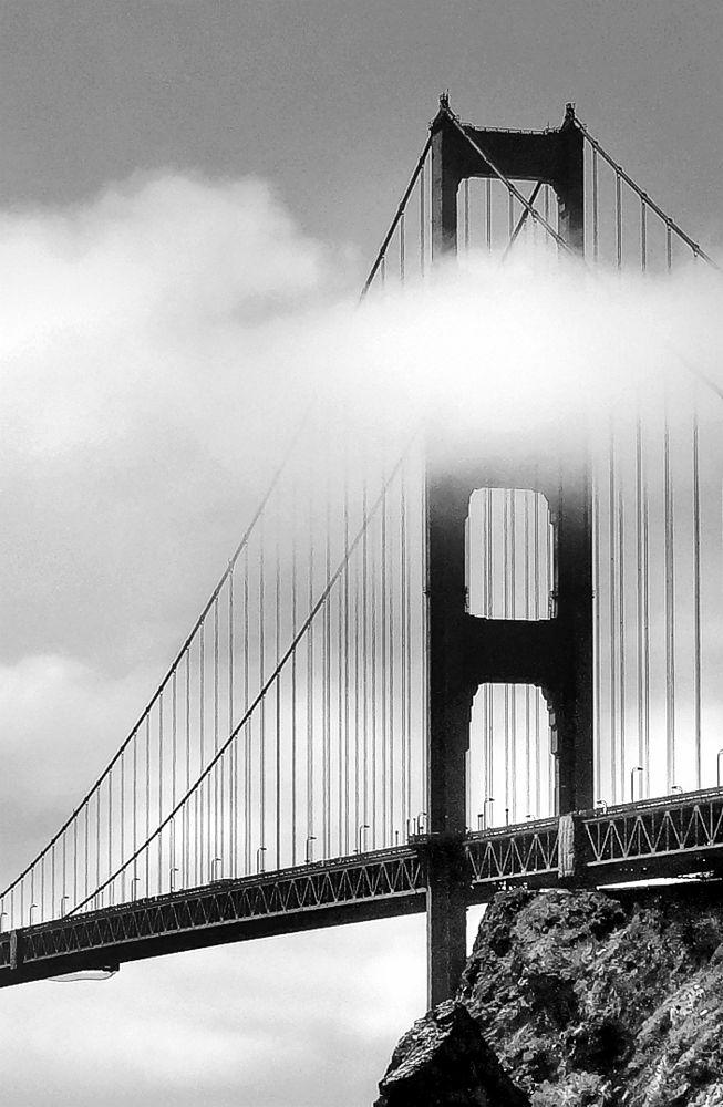 Photo in Black and White #golden gate #san francisco #california #bridge #travel #trip #tour