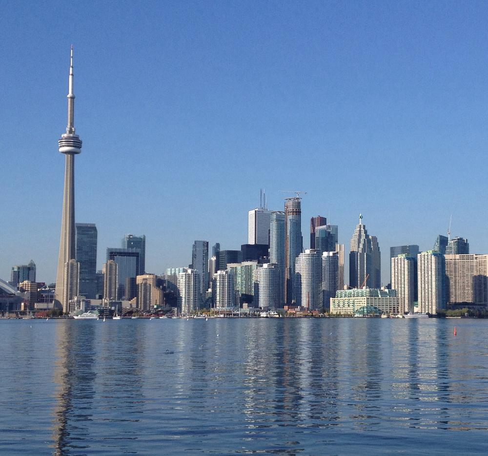 Photo in Cityscape #skyline #canada #lake #cn tower