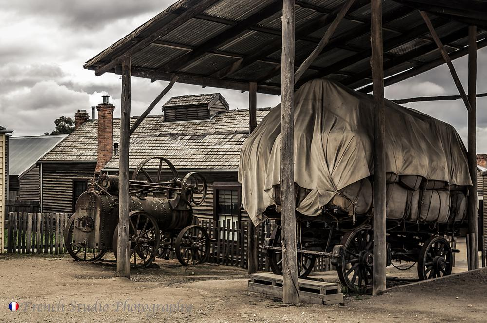 Photo in Vintage #chariot #machine #carport #house #vintage