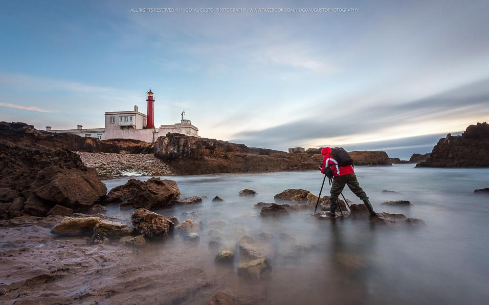 Photo in Landscape #red #coast #lighthouse #hugo augusto #portugal #cabo raso #canon