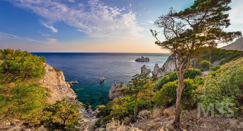 Photo in Landscape #corfu #greece #paleokastritsa #island #sunset #landscape #sea #seascape #sun #summer #travel