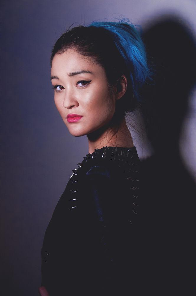 Photo in Fashion #beauty #portrait #model #femme #asian #asiatic #korean #make up #mua #hair #blue hair #photoshoot #photograph #muha #face