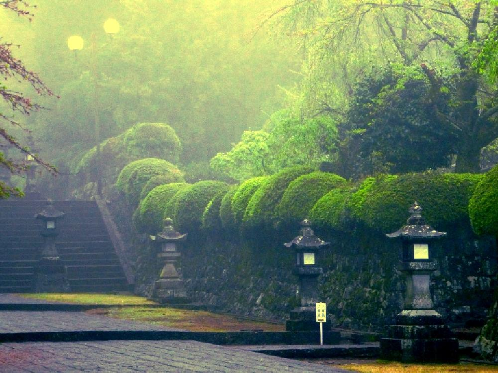 Photo in Landscape #temple #japan #mist #pathway