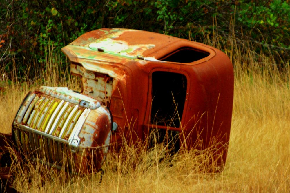 Photo in Landscape #terminator #truck #landscape #abandoned