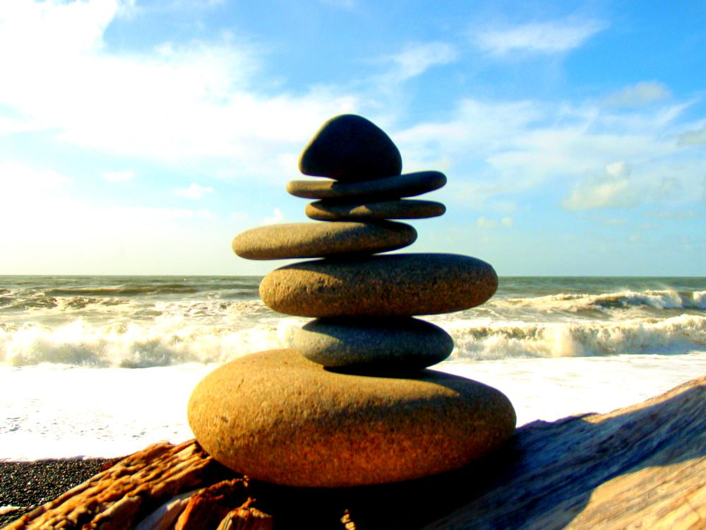 Photo in Landscape #beach #balance #cairn #washington