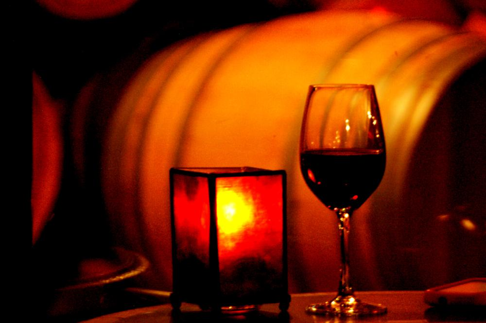 Photo in Still Life #wine #winery #candlelight #cheers