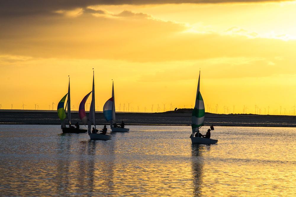 Photo in Landscape #nikon #d3100 #outdoors #sailing #wirral #lake #crezzy1976 #boats #sunset #orange #golden hour #uk #merseyside