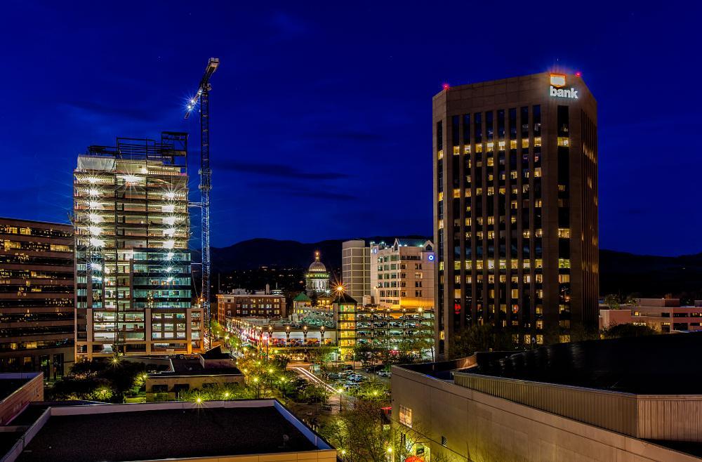 Photo in Cityscape #boise #idaho #night