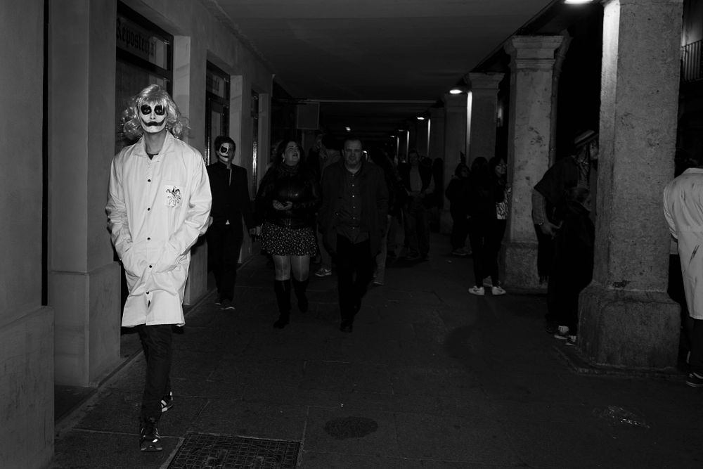 Photo in Street Photography #streetphotography #streetportrait #night #character #expression #makeup