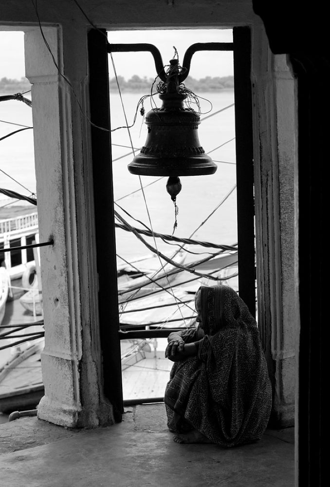 Photo in Black and White #ypa2013 #bell #varanasi