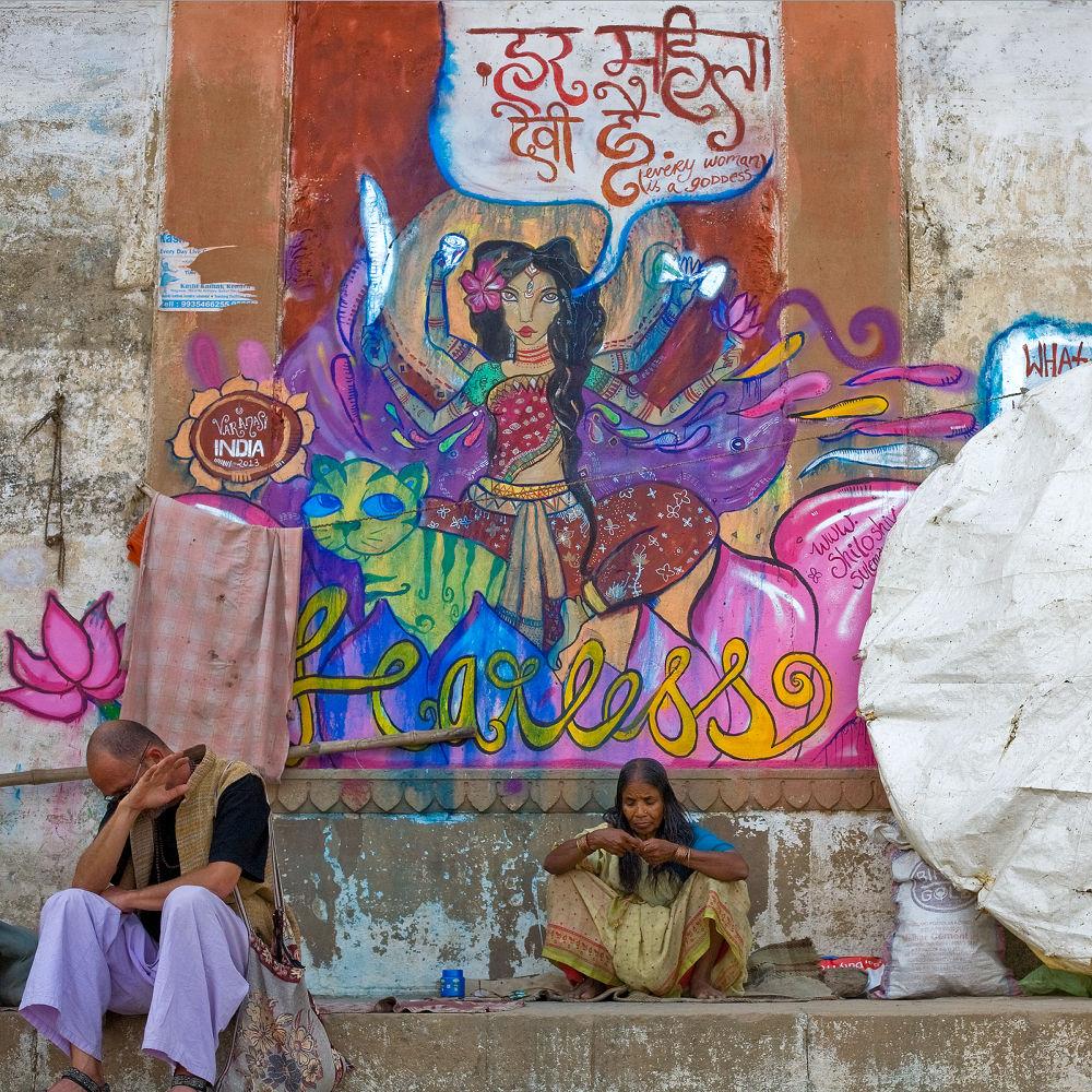 Photo in Random #ypa2013 #ghats #varanasi #women