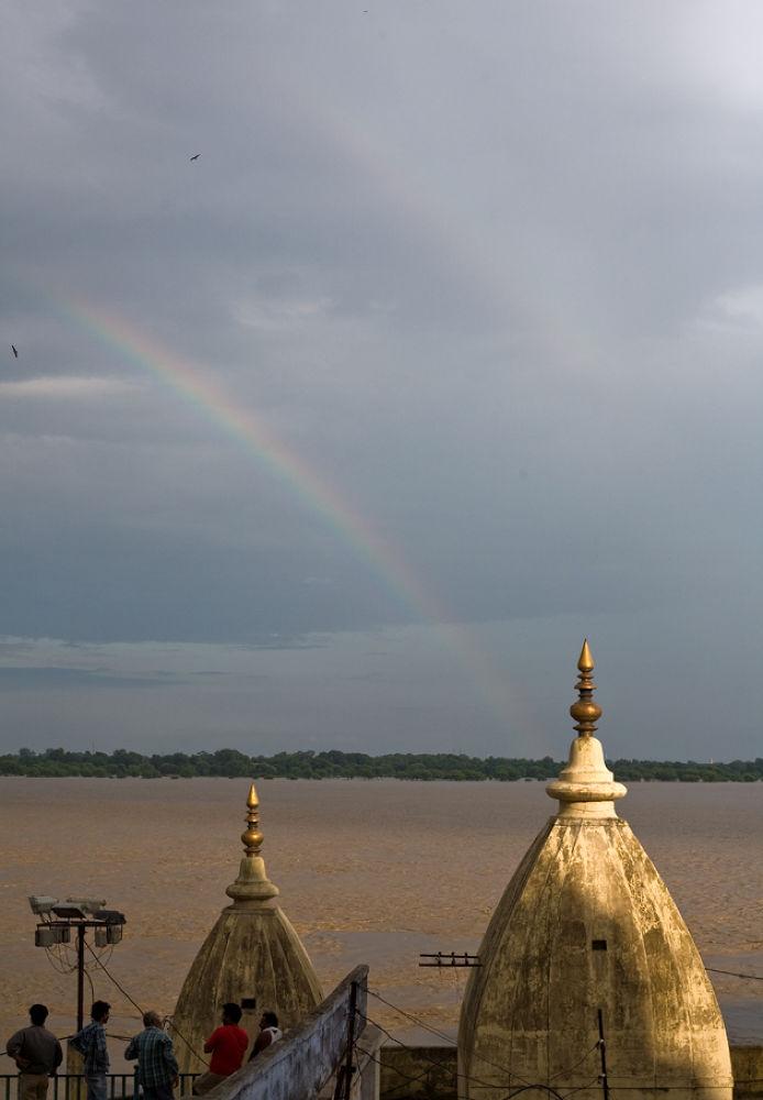 Photo in Random #ypa2013 #varanasi #rainbow #ganga