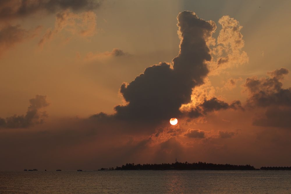 Photo in Sea and Sand #sunset #maldives