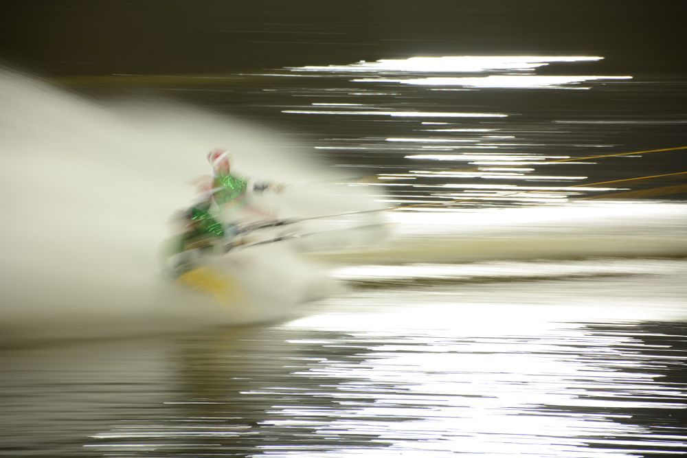Photo in Abstract #skiing #water #river #h2o #fast water #boathouse #devon