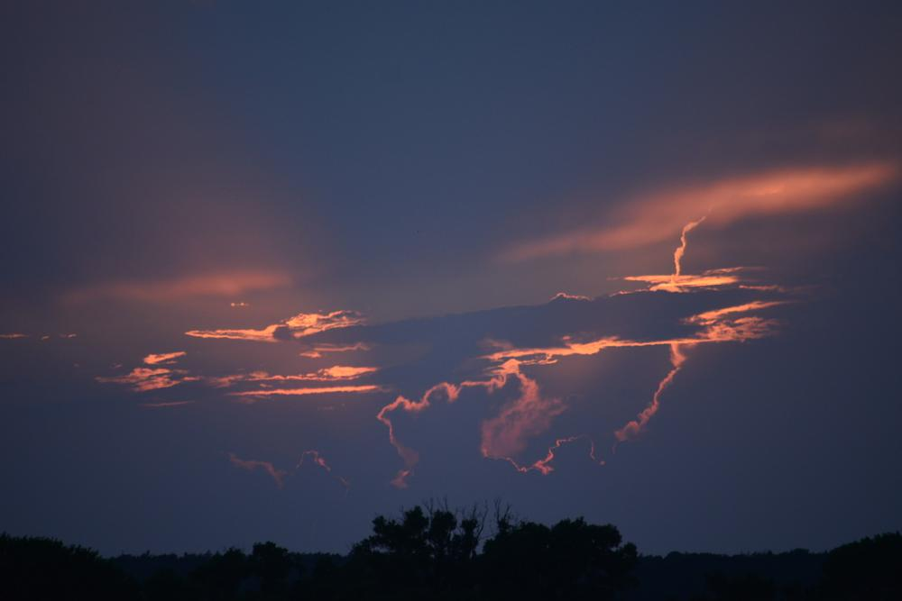 Photo in Landscape #evening sun #rays of fire #fire clouds