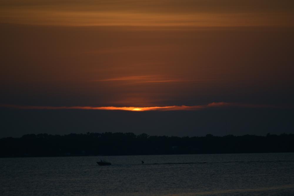 Photo in Nature #orange sunset #fire sun #sun on clouds
