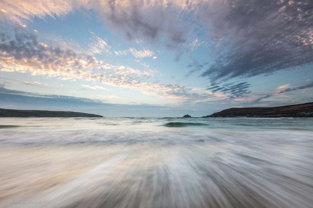 Photo in Sea and Sand #crantock #cornwall #cloudscape