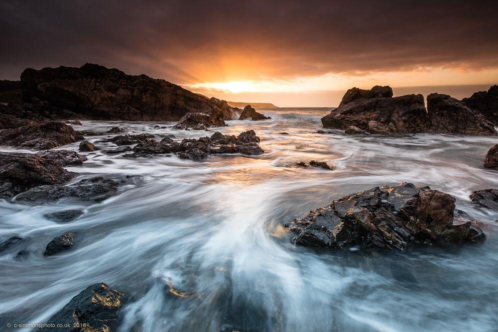 Photo in Sea and Sand #lizard #peninsular #dawn