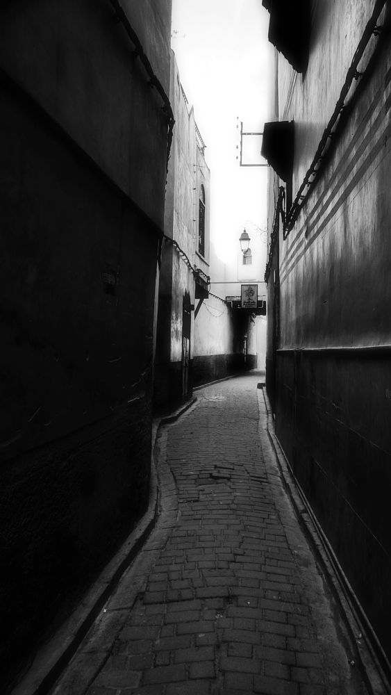 Photo in Black and White #marrocos #alley #viela