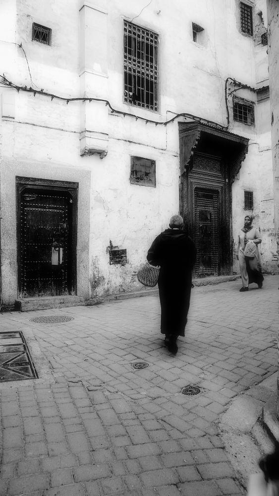 Photo in Black and White #marrocos #alley #viela