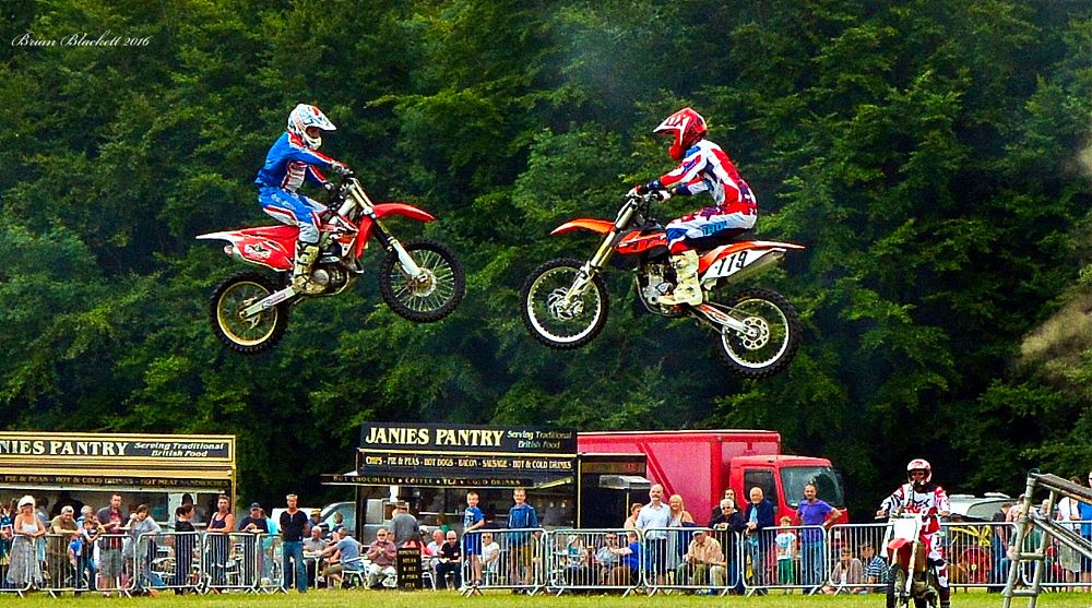 Photo in Rural #nikon d7100 #motorcycle stunt team #country show