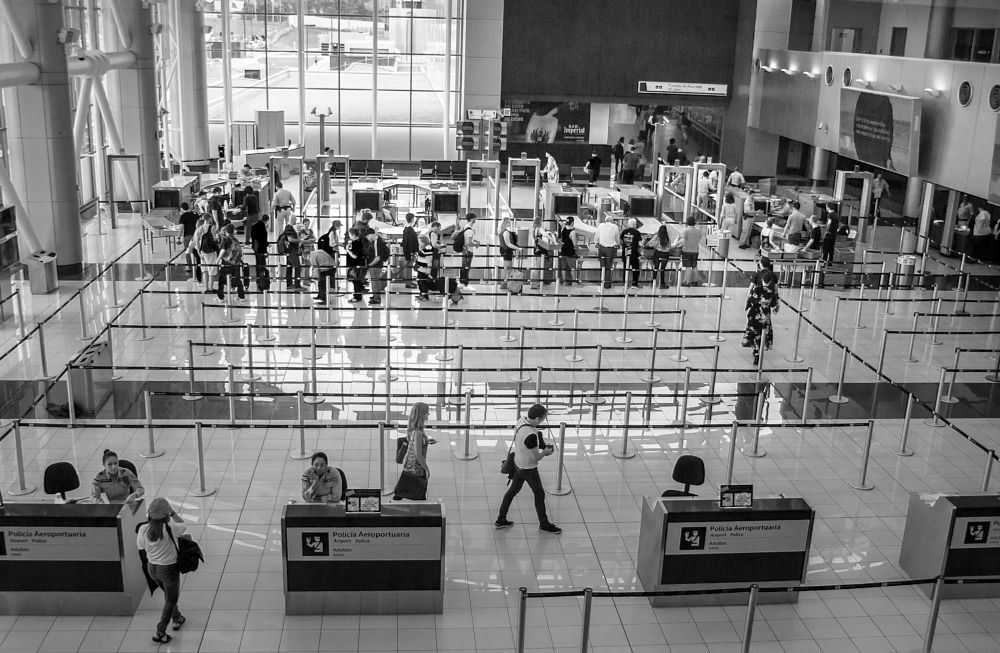 Photo in Black and White #san josé #costa rica #juan santamaría #international airport #b/n #policia aeroportuaria #migration