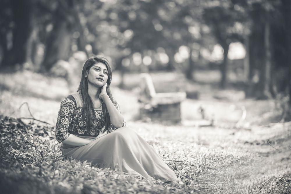Photo in Black and White #portrait #women #nikon #d7100 #bangladesh #nature