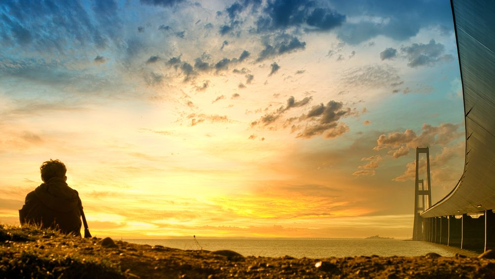 Photo in Landscape #landscape #sun set #great belt bridge